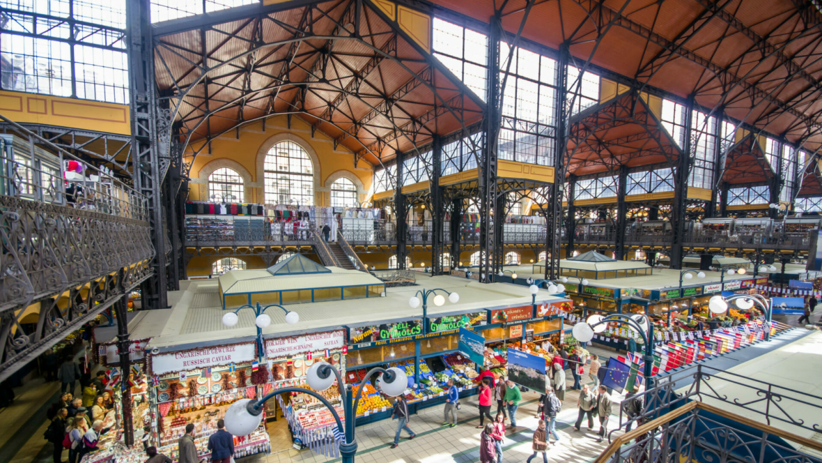 Great Market Hall in Budapest, Hungary